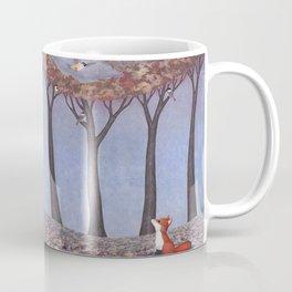 fox and chickadees Coffee Mug