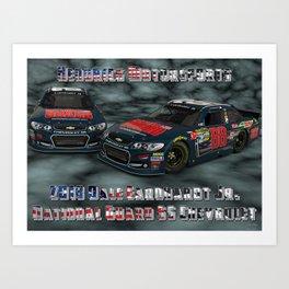 My 2013 Dale Earnhardt Jr. National Guard Chevrolet. Art Print