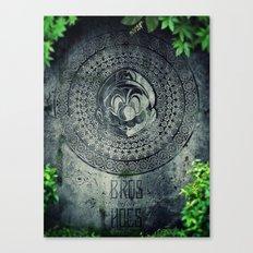 Super Mario Memorial Stone - Bros Before Hoes Canvas Print