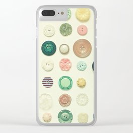 The Button Collection Clear iPhone Case