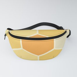 Yellow Honeycomb Fanny Pack
