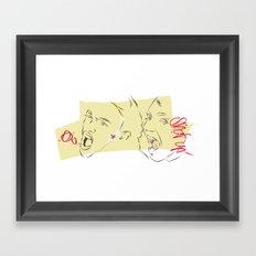 shut up Framed Art Print