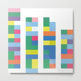 Color Code Blocks Metal Print
