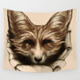 Hallo Fuchs! Mixed Media Art Wall Tapestry
