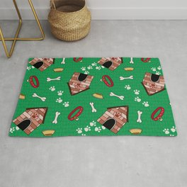 Dog Paradise in Green Rug