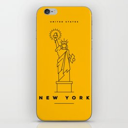 Minimal New York City Poster iPhone Skin