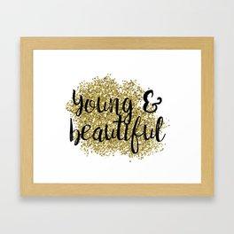 Young & beautiful - golden jazz Framed Art Print