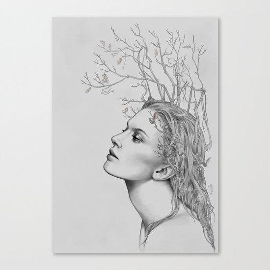 Lady November - digital painting Canvas Print