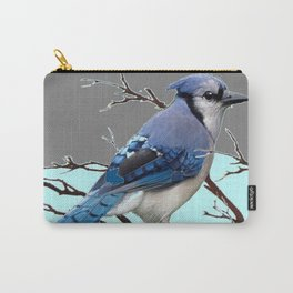 TEAL AMERICAN BLUE JAYS  GREY WINTER ART Carry-All Pouch