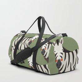 Zebra, Animal Portrait Duffle Bag