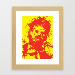 August 18, 1973: Bloodstain Leatherface (color combination M) Framed Art Print