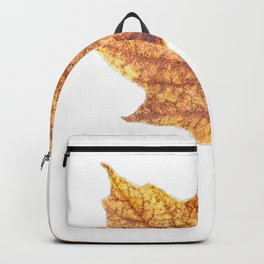 Gold Autumn Maple Leaf Backpack