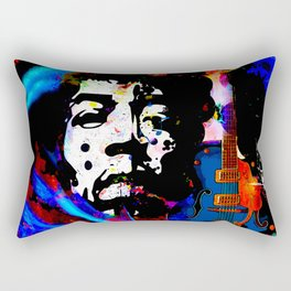GUITAR MAN:  MUSIC DOESN'T LIE Rectangular Pillow