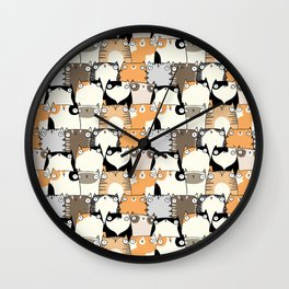 Staring Cats Wall Clock