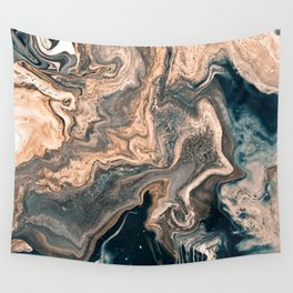 M A R B L E - copper & blue Wall Tapestry