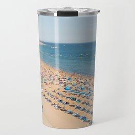Albufeira beach Portugal Travel Mug