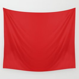 UK London Bus Red - Bright Red Double-Decker Bus Wall Tapestry