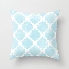 Bleu Pâle Throw Pillow