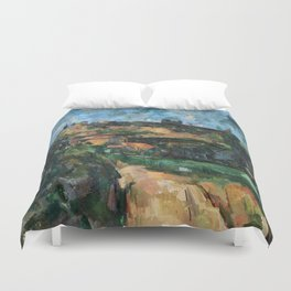 1904 - Paul Cezanne - Bend Of The Road At The Top Of The Chemin Des Lauves Duvet Cover