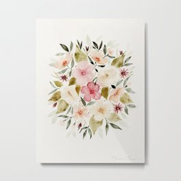 Loose Autumn Flowers Metal Print