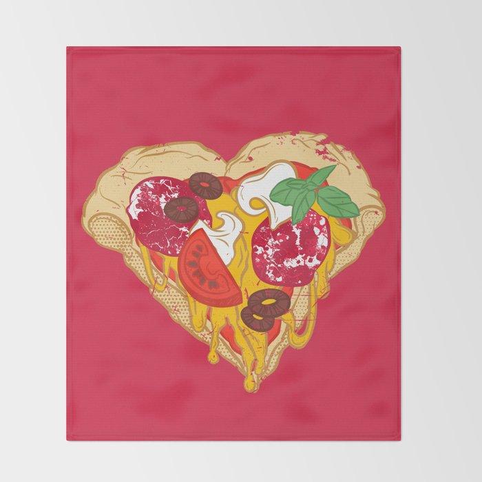 Pizza is my true Valentine Throw Blanket