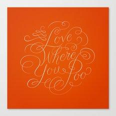 Love Where You Poo - Orange Canvas Print