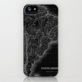 South America Antique Map iPhone Case