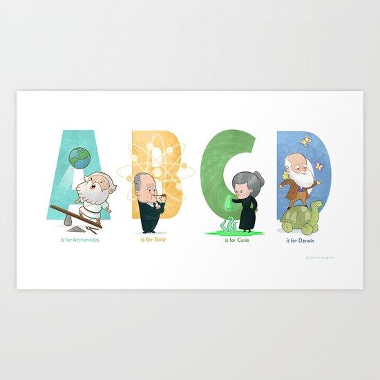 Science ABC Art Print