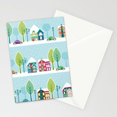 Ski house Stationery Cards