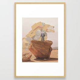 Yellow Lion Framed Art Print