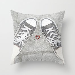 Sneaking Up On Love Throw Pillow