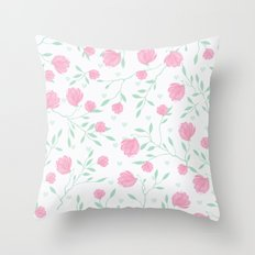 Floral pattern design Throw Pillow