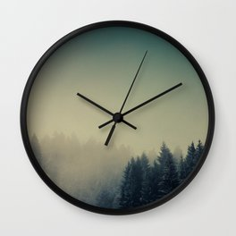 Snow in the woods Wall Clock