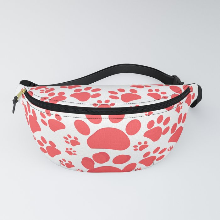 Dog paw print made of red heart Fanny Pack