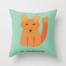 My woodland fox Throw Pillow