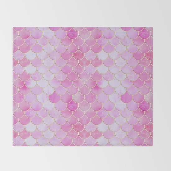 Pink Pearlescent Mermaid Scales Pattern by tanyalegere