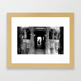 Kathak Dancer Framed Art Print