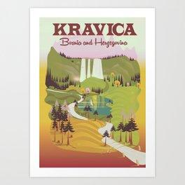 Kravica Waterfalls Art Print