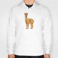 alpaca Hoodies featuring Alpaca by Peggy Cline