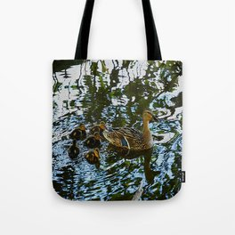 Little Quackers: Mother and Ducklings (Chicago North Pond Collection) Tote Bag