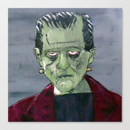 Frankenstein's monster hides in my garage Canvas Print