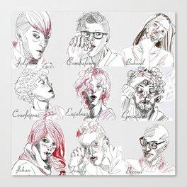 Les Amis Canvas Print