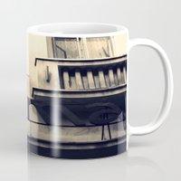 cinema Mugs featuring Cinema by Ioana Stef