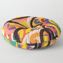 Urban Art Graffiti Tribal Man  Floor Pillow