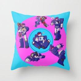 Soundwaves - Crystals Throw Pillow