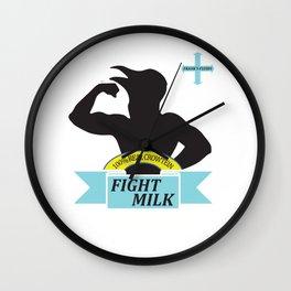 Fight Milk Wall Clock