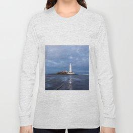 Dusk at St Mary's Lighthouse II Long Sleeve T-shirt