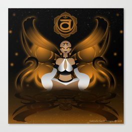 Inner Light: Spleen Chakra Canvas Print