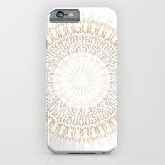 Beige White Mandala iPhone 6s Slim Case