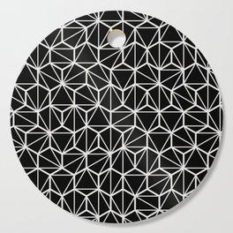 Geometric / Low Poly Pattern (White) Cutting Board